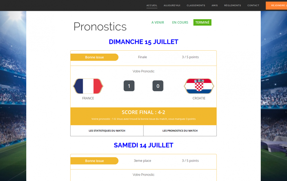 Pronoctics - Coupe du monde 2018